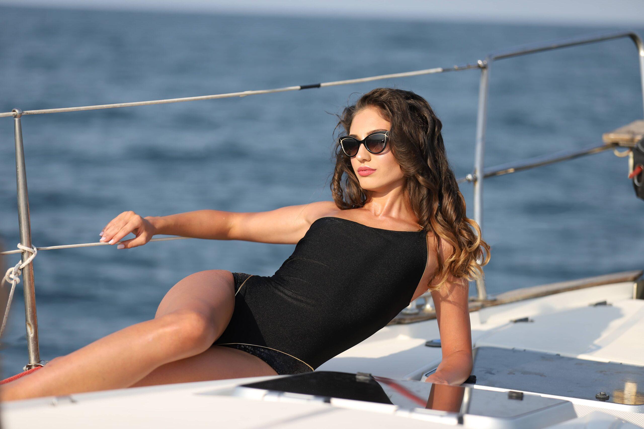 Gabbi White Swimwear Bikini Designer Black Swimsuit 2